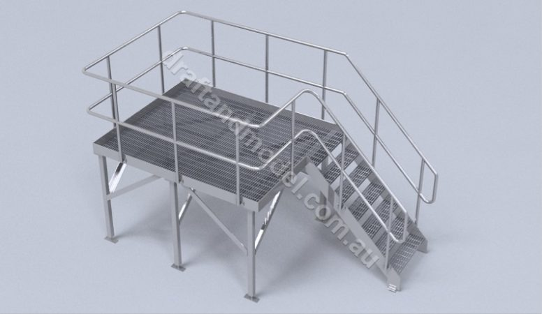 Stairs and Platform 3D Model